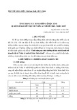 Tình trạng suy dinh dưỡng ở học sinh  bị một số khuyết tật từ 7 đến 14 tuổi ở Thừa Thiên Huế