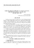 Nghiên cứu tập đoàn giống ớt cay (capsicum annum SPP) nhập nội trong vụ đông - xuân 2001 - 2002 tại Thừa Thiên - Huế