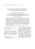 Cost control in the united states postal service the institutional effects and implications - Dang Thi Viet Duc