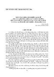 Phân tích những ảnh hưởng kinh tế của các loại phân -  Đạm, lân và phân chuồng đến năng suất lúa trên hai vùng: Vùng trung bình và vùng cao ở huyện Tiên Phước,  tỉnh Quảng Nam