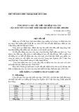 Tình hình và nhu cầu điều trị bệnh nha chu của sinh viên năm thứ nhất Đại học Huế năm học 2000-2001