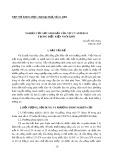 Nghiên cứu sức sinh sản của vịt CV SUPER M trong điều kiện nuôi khô
