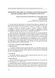 Thành phần hoá học của tinh dầu loài cơm nguội đá (Glycosmis mauritiana Ridl.) ở Vườn Quốc gia Pù Mát