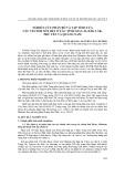 Nghiên cứu phân bố và tập tính của các vector sốt rét ở các tỉnh Gia Lai, Đắk Lắk, Phú Yên và Quảng Nam