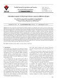Antioxidant capacity of oilseed rape (Brassica napus) in different soil types