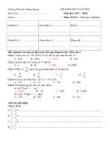 Đề thi học kì 2 môn Toán 4 năm 2017-2018 có đáp án - Trường Tiểu học Hồng Quang