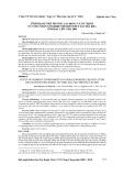 Tình trạng môi trường lao động và sức khỏe nữ công nhân xí nghiệp chế biến thủy sản Trà Kha tỉnh Bạc Liêu năm 2009