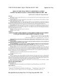 Khảo sát một số đặc điểm của bệnh nhân lao phổi tái phát tại Thị xã Ngã Bảy và Huyện Phụng Hiệp năm 2007-2009
