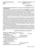 Đề thi học kì 1 môn Tiếng Anh 12 năm 2017-2018 có đáp án - Trường THPT Nguyễn Trãi - Mã đề 122