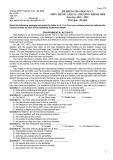 Đề thi học kì 1 môn Tiếng Anh 12 năm 2018-2019 có đáp án - Trường THPT Nguyễn Trãi - Mã đề 579