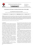 Determination of the impact of creeping of furniture joints on their rigidity