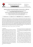 Biomass production and nutritional quality of Moringa oleifera as a field crop