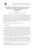 Quan hệ giữa truyền thông xã hội và tài sản khách hàng: Trường hợp nghiên cứu tại thành phố Huế