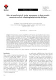 Effect of some botanicals for the management of plant-parasitic nematodes and soil-inhabiting fungi infesting chickpea
