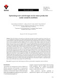 Optimizing water and nitrogen use for maize production under semiarid conditions