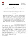 Rooting behaviour, polyphenol oxidase activity, and biochemical changes in grape rootstocks at different growth stages