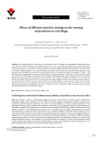 Effects of different material coatings on the wearing of plowshares in soil tillage