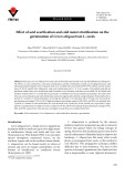 Effect of acid scarification and cold moist stratification on the germination of Cercis siliquastrum L. seeds