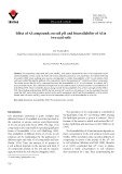 Effect of Al compounds on soil pH and bioavailability of Al in two acid soils