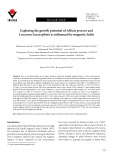 Exploring the growth potential of Albizia procera and Leucaena leucocephala as influenced by magnetic fields