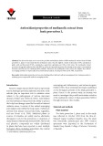 Antioxidant properties of methanolic extract from Inula graveolens L.
