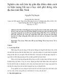 Luận văn Thạc sĩ ngành Tâm lý học: Nghiên cứu mối liên hệ giữa đặc điểm nhân cách và hiện tượng bắt nạt ở học sinh phổ thông trên địa bàn tỉnh Bắc Ninh