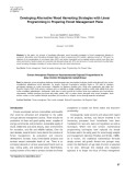 Developing alternative wood harvesting strategies with linear programming in preparing forest management plans