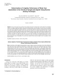 Determination of irrigation performance of water user associations in the vicinity of Sarigöl and Alaflehir using remote sensing techniques