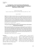 The replication of the purple flowered Rhododendron (Rhododendron ponticum L.) by seed and chances of survival in replanting in different media