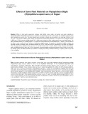 Effects of some plant materials on Phytophthora blight (Phytophthora capsici Leon.) of pepper