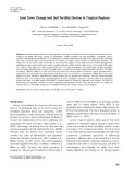 Land cover change and soil fertility decline in tropical regions