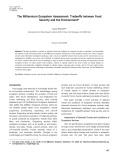 The millennium ecosystem assessment: Tradeoffs between food security and the environment