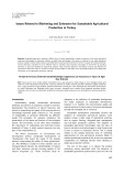 Issues related to marketing and extension for sustainable agricultural production in Turkey