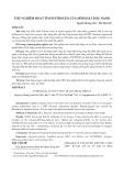 Thử nghiệm hoạt tính estrogen của mầm hạt đậu nành