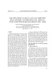 Nguyên nhân và quy luật của thời tiết mưa lớn khu vực Hải Vân - Đèo Cả, vùng Nam Trung Bộ (giai đoạn 1986   2010)