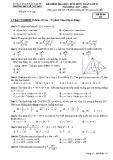 Đề thi học kì 2 môn Toán 11 năm 2017-2018 có đáp án - Trường THPT Lê Quý Đôn - Mã đề 115