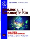 Tạp chí khoa học và công nghệ Việt Nam số 11 năm 2018