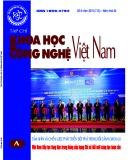 Tạp chí khoa học và công nghệ Việt Nam số 8 năm 2018