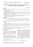 Thái độ đối với nghề nghiệp của học sinh điều dưỡng Trường Cao đẳng Y tế Tiền Giang