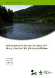 Báo cáo chuyên đề: Kinh nghiệm quốc tế và các đề xuất sửa đổi khung pháp lý về định giá rừng tại Việt Nam