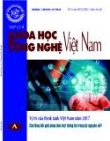 Tạp chí khoa học và công nghệ Việt Nam số 3 năm 2018