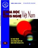 Tạp chí khoa học và công nghệ Việt Nam số 4 năm 2018