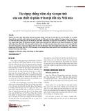 Tác dụng chống viêm cấp và mạn tính của cao chiết từ phần trên mặt đất cây Mũi mác