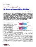 Vật liệu thấp chiều - lời giải cho bài toán phát triển nhiệt điện