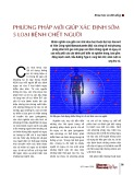 Phương pháp mới giúp xác định sớm 5 loại bệnh chết người