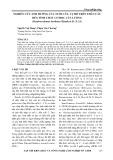 Nghiên cứu ảnh hưởng của tuổi cây, vị trí trên thân cây đến tính chất cơ học của luồng (dendrocalamus barbatus hsueh et D.Z.LI)