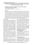 Ứng dụng kỹ thuật nuôi cấy in vitro trong nhân giống cây gừng gió (zingiber zerumbet)