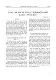 Đánh giá xác suất nguy hiểm động đất Bà Rịa - Vũng Tàu
