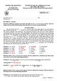 Đề thi học kì 1 môn Tiếng Anh 11 năm 2017-2018 có đáp án - Trường THPT Nguyễn Du - Mã đề 111