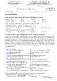 Đề thi học kì 1 môn Tiếng Anh 11 năm 2017-2018 có đáp án - Trường THPT Yên Lạc 2 - Mã đề 134